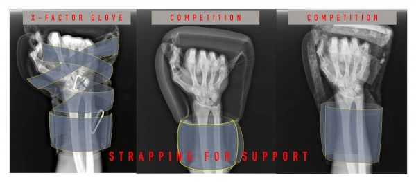 How the strapping supports the hand inside the ONX boxing gloves