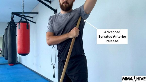 Use the end of a broom handle for an advanced Serratus Anterior release