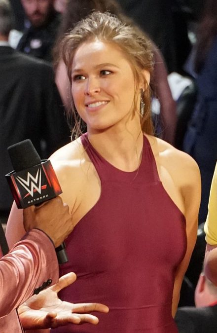 Ronda Rousey at WWE Hall Of Fame 2018